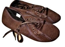 Womens brown lace up trainers Corduroy Canvas Pumps Shoe Flat Plimsole Dolly New