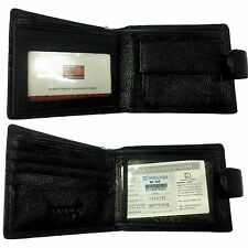 New Men's Wallet Genuine Leather Wallet Black/Coffee w Coin Bag Card Holder