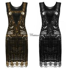 Women's O-Neck Sleeveless Sequined Cocktail Evening Party Bodycon Dress WT8801