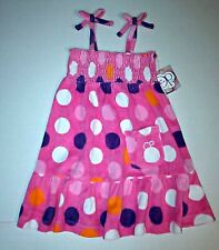 Op Baby Girls Pink Polka Dot Smocked Terry Swim Cover-Up Dress 18, 24 Month NEW