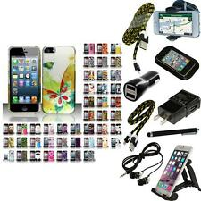 For Apple iPhone 5 Hard Rubberized Matte Snap-On Case Phone Cover + Bundle