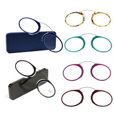 US Nose Reading Glasses +1.0 to +3.5, Portable  Wallet Reader With Case Glasses