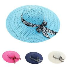 Women Straw Sun Hat Wide Brim Fold Beach Hat Summer Beach Outdoor Sun Hat