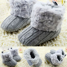 Baby Kids Infant Toddler Crib Shoes Girls Fleece Warm Snow Shoes Boots 0-18M
