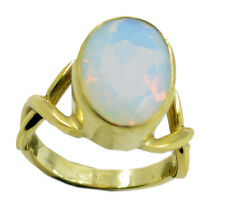 Fire Opal CZ Gold Plated Ring refined White handcrafted AU K,M,O,Q