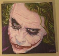 JOKER HEATH LEDGER BATMAN 18X18  POP ART PAINTING CARGILL