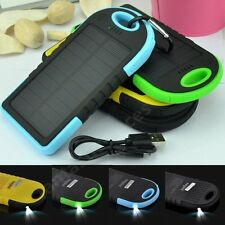 12000MAh Portable Outdoor Solar Power Bank Battery Charger For Mobile Phones