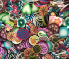 Mixed fimo cane slices for nail art,dolls house,
