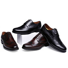 Mens Business Dress Formal Oxfords Leather Shoes Lace Up Pointed Toe With Box