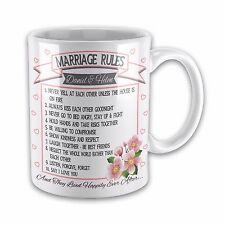 Personalised Blue Banner Picture Of Dad Novelty Gift Mug