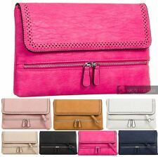 WOMENS NEW FAUX LEATHER ZIP DETAIL ADJUSTABLE STRAP SHOULDER HAND BAG