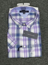 NEW MENS TOMMY HILFIGER CUSTOM FIT BUTTON FRONT WOVEN SHIRT PLAID MULTI