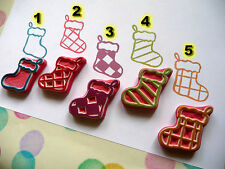 Christmas Stocking Stamp, Xmas rubber stamp, hand carved rubber stamp, socks