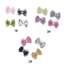 40Pcs Acrylic Rhinestones 3D Bow Tie Glitters Beads Nail Art DIY Decoration B9G1