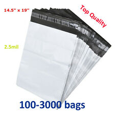 100-3000 14.5x19 Poly Mailers Shipping Mailing Envelope Self Sealing Plastic Bag