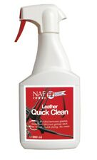 NAF LEATHER QUICK CLEAN saddle soap tack leather care showing grease 500ML
