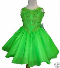 Toddler & Girl Formal Dress for Pageant Dance Wedding Party Green Lime 1234567