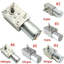 ^Reversible High Torque Turbo Worm ^Geared Motor 12V Reduction Motor 0.6-120RPM^