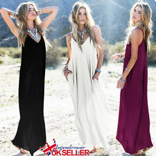 Womens Summer Evening Cocktail Ladies Party Beach Hippie Boho Maxi Dress 10-24
