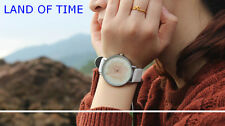 Creative Women Watch Project Terra Land Time Mountain Contours Leather Band