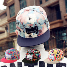 Women  Men's Snapback Adjustable Baseball Cap Hip-Hop Hat Cool Floral Print New.