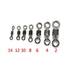 100PCS Useful Ball Bearing Swivel Solid Rings Fishing Connector 2#-14# 0W