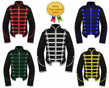 Men-039-s-Handmade Black Military Marching Band Drummer Jacket New-Style