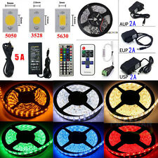 5M 10M 20M LEDs SMD 3528/5050/5630 RGB White Flexible Strip Light(Remote+Power)