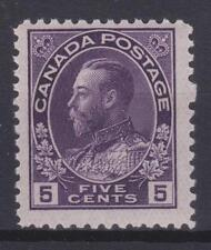 """Canada 1924 #112a King George V """" Admiral"""" Issue MNH F"""