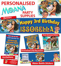 Personalised Moana Birthday Party Banner Decorations Supplies