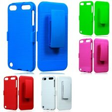For Apple iPod Touch 5th Gen Matte SLEEK Belt Clip Holster Case 2-Piece Cover