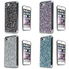For Apple iPhone 7 ROCK Rhinestone Bling Crystal Design Hard Cover Case