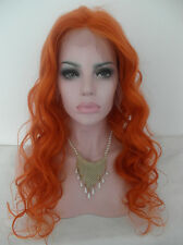Long deep curly orange 100% Human Hair Full Lace Wig Customized Lace Wigs