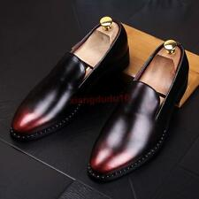 Mens Oxford Faux leather Pointy toe Casual Slip on Loafers Fashion Shoes US6-9.5