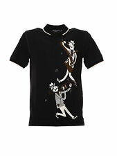 D&G Dolce&Gabbana Polo Shirt % Man Blacks G8GZ8T-FP737-HN655