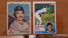1983 Topps Wade Boggs Rookie Card #498 AND Fleer Rookie Card #179