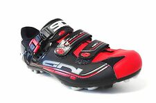 SIDI Dominator 7 MTB Cycling Shoe: BLACK AND RED- VARIOUS Sizes - NEW