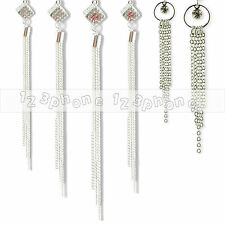 FASHION JEWELRY LADY ELEGANT CHIC RHINESTONE TASSEL EARDROP DANGLE HOOK EARRING