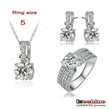 Bridal Jewelry Sets Silver Plated Necklaces Pendants/Earring/Ring