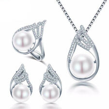 Natural Freshwater Pearl Jewelry Sets For Women Necklace & Earrings