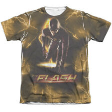 Flash TV Show Hero BOLT 1-Sided Sublimated Big Print Poly Cotton T-Shirt