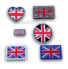 Union Jack UK Flag Love Heart Iron Sew On Embroidered Patch *Buy1get1half price*