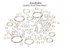 400-800 SILVER PLATED QUALITY MIXED JUMP/SPLIT RINGS 4-20mm JEWELLERY CRAFTS UK