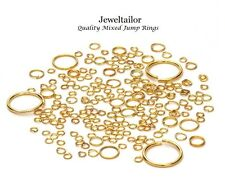 400-800 GOLD PLATED QUALITY MIXED JUMP/SPLIT RINGS 4-20mm JEWELLERY CRAFTS UK