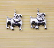 wholesale:30/60/100 pcs Retro style Very lovely Dog fighting alloy charm pendant