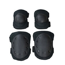 Tactical Adjustable Knee & Elbow Pad Sets Airsoft Combat Skate Protective Pads
