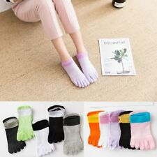 5 Pairs Women Cotton Breathable Toe Socks Five Finger Socks Sports Ankle Low Cut