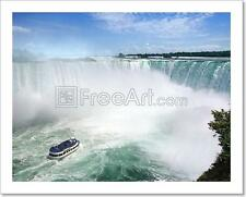 Niagara Falls Tourism Art Print Home Decor Wall Art