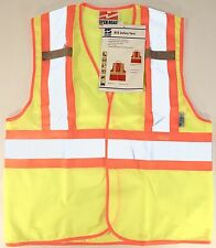 New Class 2 High Visibility Safety Vest Lime Green And Yellow Light Weight Mesh