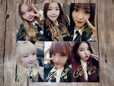 GFRIEND Autographed signed photo 6 photos set  4*6 in  freeshipping 03.2017